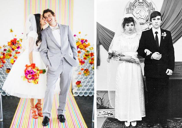 Декор свадьбы в стиле СССР