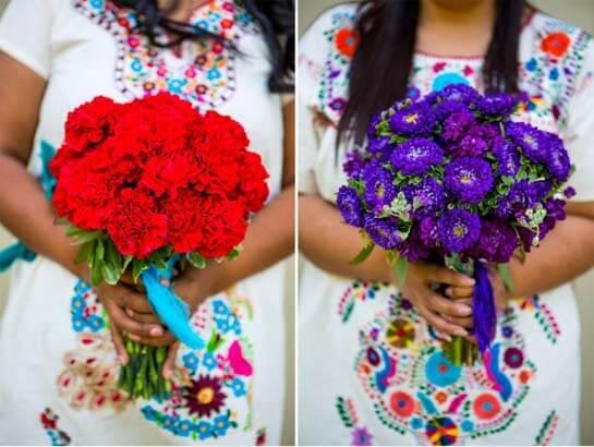 Букет невесты для свадьбы в мексиканском стиле