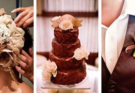оформление свадьбы в шоколадном цвете
