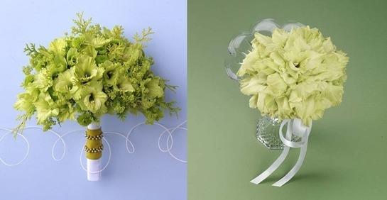 Букеты из зеленых гладиолусов