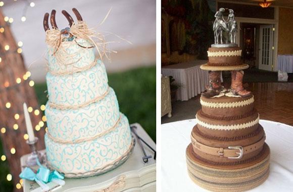 Свадебный торт стилизованный под вестерн