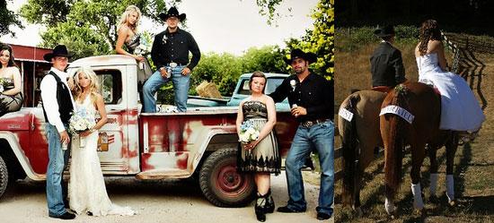 Свадебный транспорт на ковбойскую свадьбу