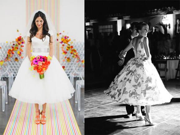 Красивое платье невесты в стиле 80х