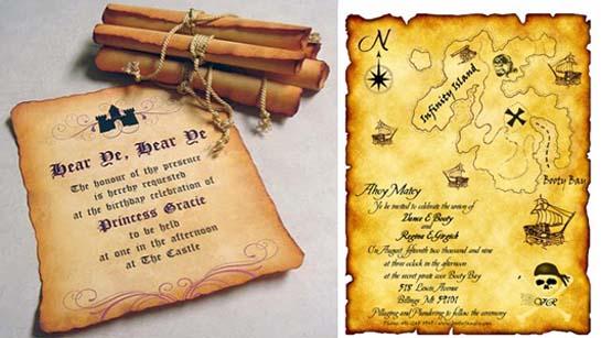 Приглашения на свадьбу в пиратском стиле