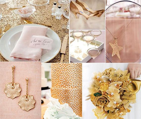 Оформление свадьбы в золотом