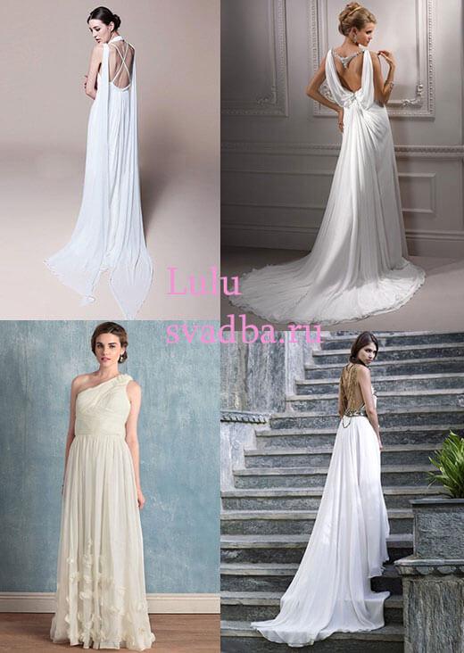 Стильные платья невесты в греческом стиле