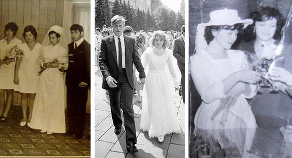 Модные свадебные платья в 80-х