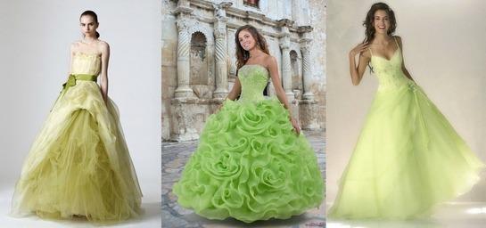 Платья в зеленом стиле