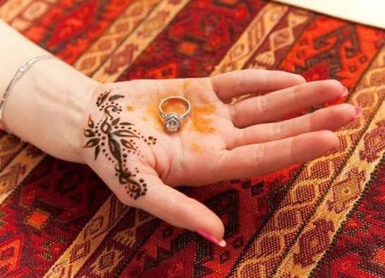 Хна на руках невесты