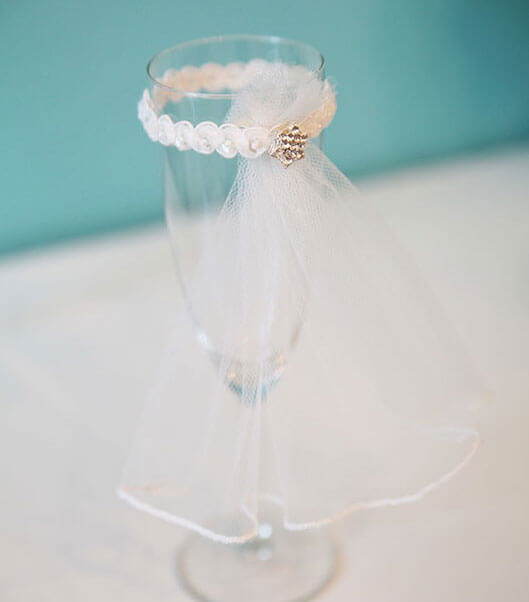 Красивый свадебный бокал своими руками