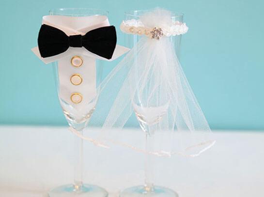 """Свадебные бокалы """"жених и невеста"""""""