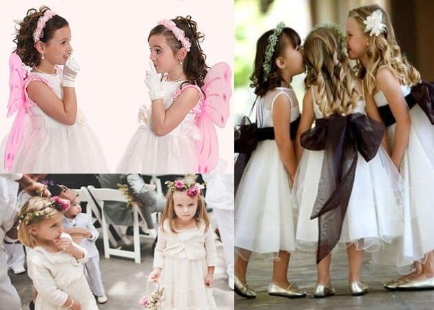 Варианты свадебных причесок для девочек