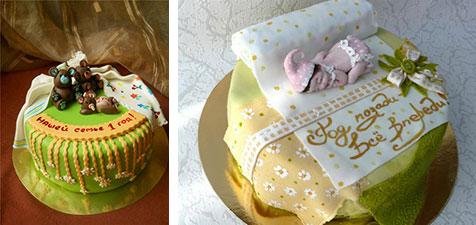 Красивый торт на ситцевую свадьбу