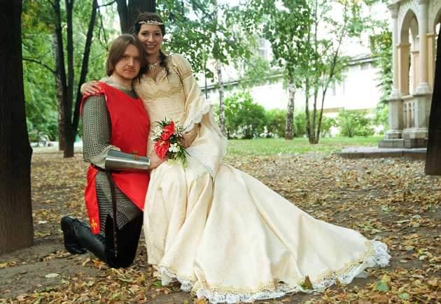 свадьба в рыцарском стиле, жених и невеста