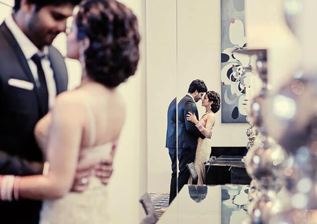 Невеста и жених в стиле Голливуд