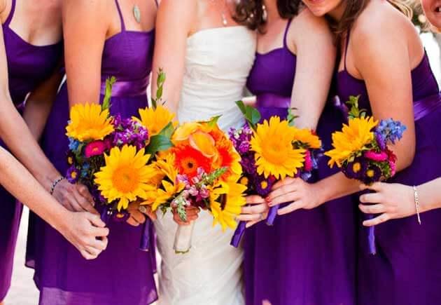 фиолетовые платьяневест