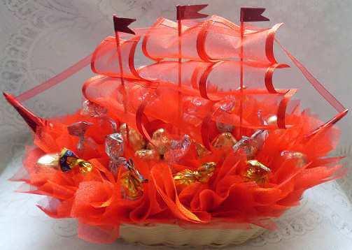 корабль с конфетами