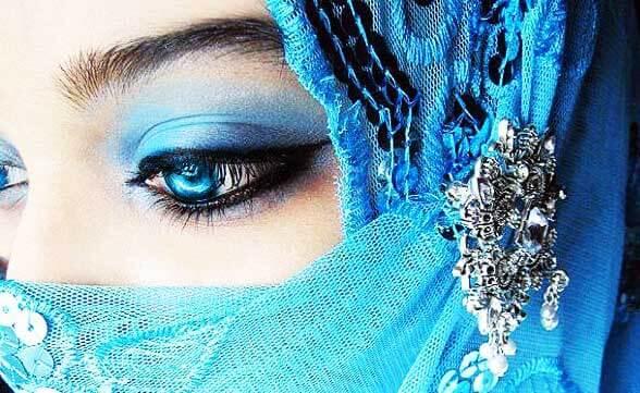 Восточный макияж марокканской невесты