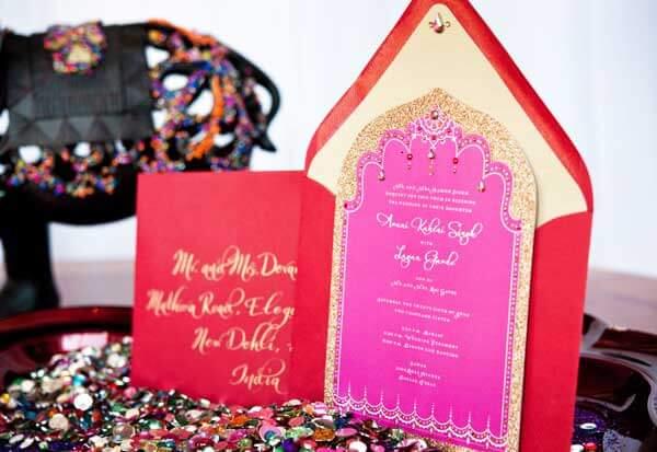Приглашение на свадьбу в восточном стиле
