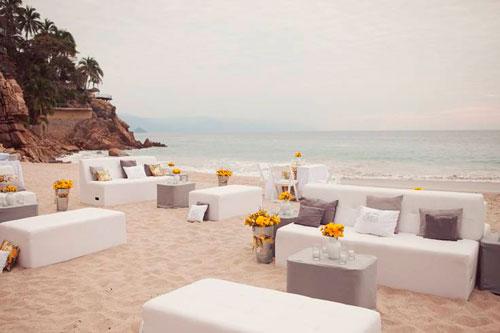 посадочные места на пляжной свадьбе