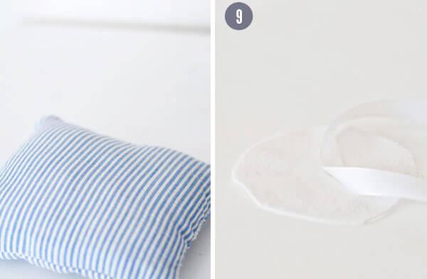 Оригинальная подушка для колец своими руками