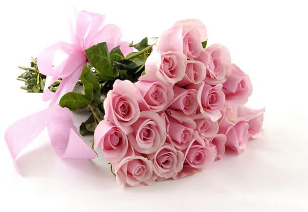 розовый букет из роз