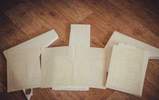 трафареты для букв из пенопласта