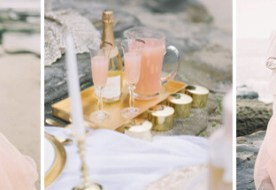 Летняя свадьба на пляже в нежных персиковых тонах