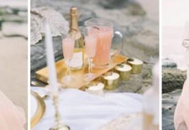 свадебные наряды в розовом цвете