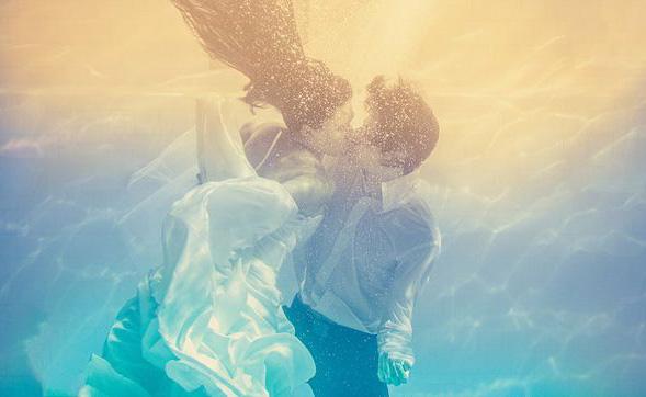 Красивая свадьба под водой