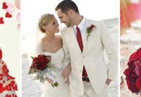 Бело-красная свадьба: откровенно яркая палитра декора