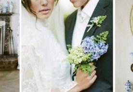 Винтажная свадьба в голубых тонах: нежные узоры хрупкого фарфора