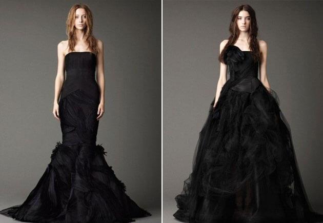 свадебные черные платья Веры Вонг