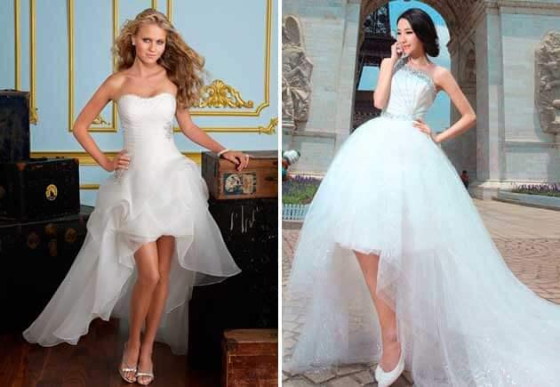 свадебные платья из фатина со шлейфом