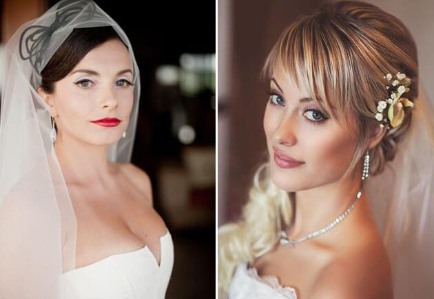 свадебные прически с длинной фатой