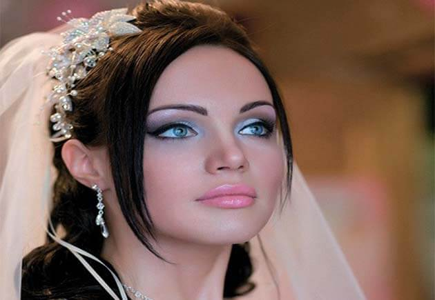 макияж брюнетки на свадьбу