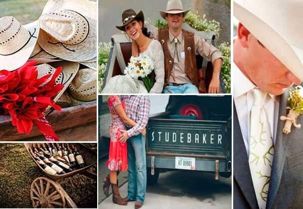 детали одежды свадьбы вестерн