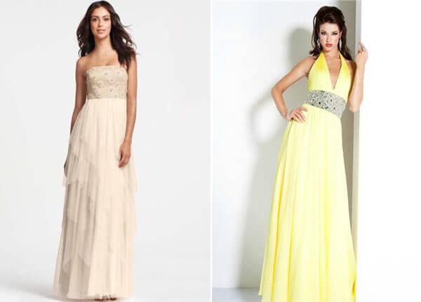 цветные свадебные платья ампир