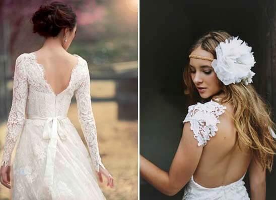 кружевные платья с открытой спиной