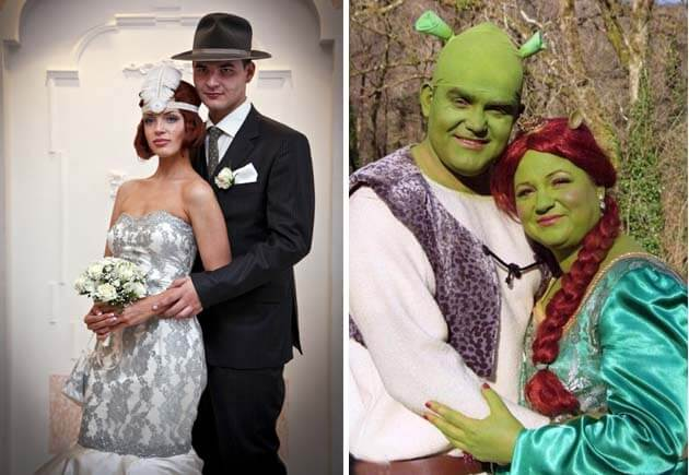 наряды молодожен в стиле свадьбы