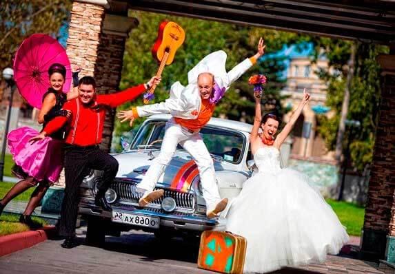 тематика свадьбы - стиляги