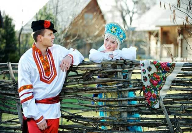 свадебные национальные русские наряды