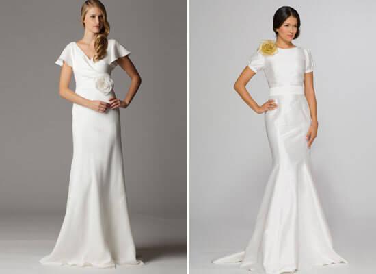 платья невесты с коротким рукавом