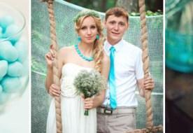 Цвет свадьбы: бирюзовый и его озорные оттенки