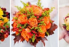 Осенний свадебный букет: стильная нота в блюзе осени