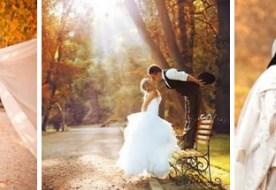 Свадебная прогулка: осенний шарм и листопад нежности