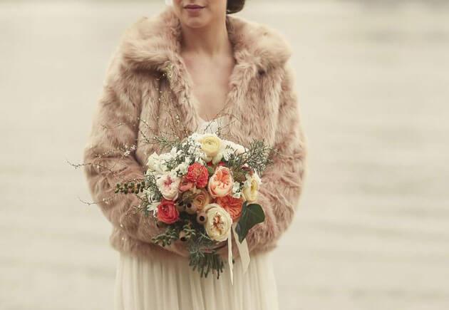 зимний полушубок невесты