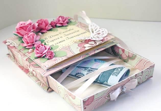 свадебная коробочка с деньгами