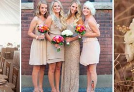 Свадебная палитра: нежный бежевый в декоре