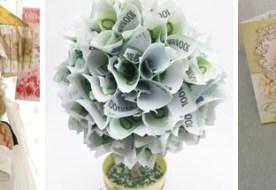 Свадебный креатив: оригинальный подарок на свадьбу из денег